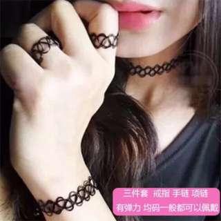 🚚 刺青項鍊頸鏈三件組