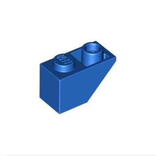 LEGO 1 X 2 Blue 45° Inverted Slope