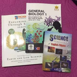 Earth And Life Science & General Biology 1 (Science Dictionary)