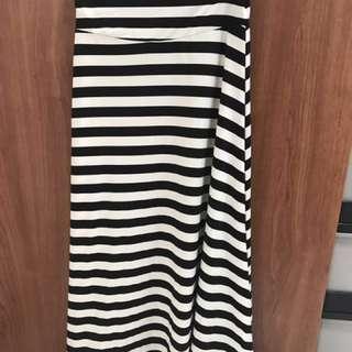 CACO 傘擺橫條紋長裙
