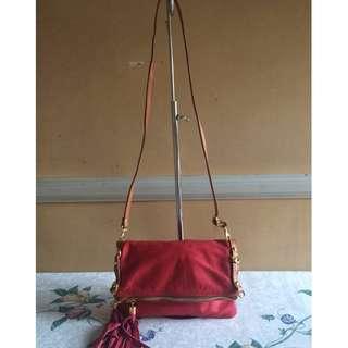 Made in Italy Borse in Pelle Foldover Shoulder Bag or Wristlet