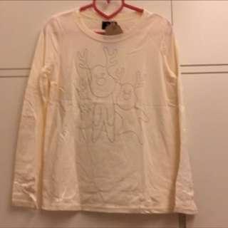 🚚 Bluedeer 藍鹿 米色 長袖T恤