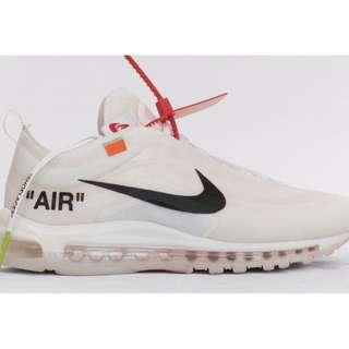 全新Nike Off White THE TEN: AIR MAX 97 OG US10
