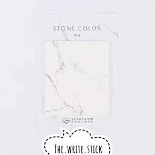 White Marble Post It Sticky Notes Instocks