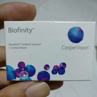 Biofinity monthly contact lens