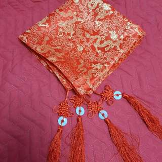 Chinese Wedding Red Gold Veil