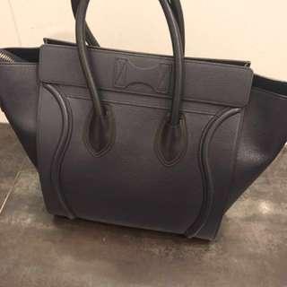 New Celine Luggage In Dark Grey Leather
