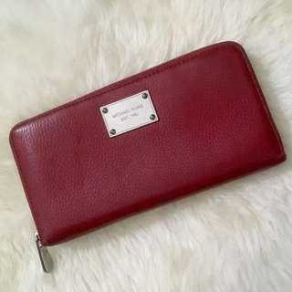 Michael Kors MK Continental Travel Wallet Leather Original Second Murah
