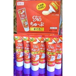 3支$105 吞拿魚味 400億乳酸菌營養糊 CIAO 80g 日本製