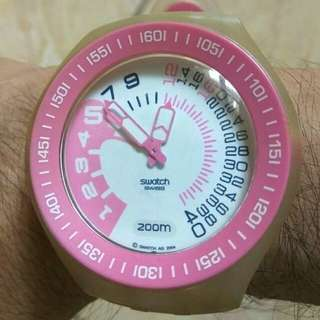 Original SWATCH ROSE WATER SCUBA FUN DIVER