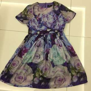 Doublewoot silky floral dress