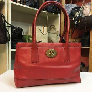 Authentic coach handbag leather