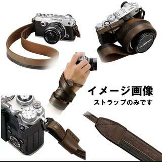 Olympus premium leather strap for pen f , omd , pen series