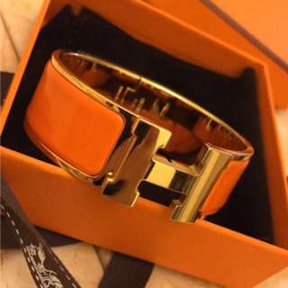 Hermes orange bangle