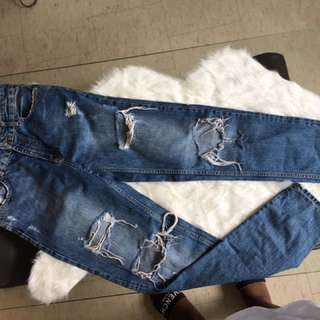 Zara ripped high waist jeans