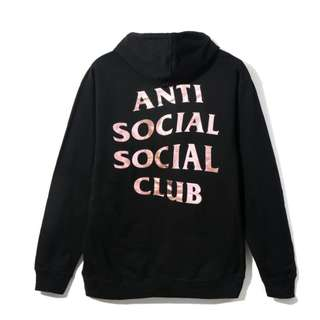 "Anti Social Social Club (ASSC) ""Stressed"" Hoodie Rose Gold"