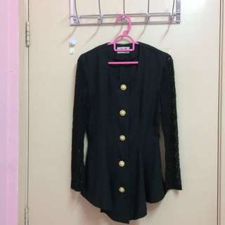 Black Vintage Top / Blouse