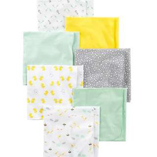 Brand New Carter's Flannel Receiving Blankets For Baby Boy Or Girl