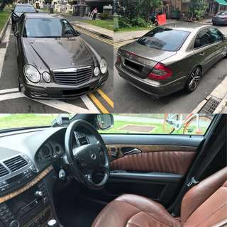 Mercedes E230 and Accord 2.4A Rent