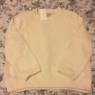 BWT Oak and Fort Creme Knit Sweater price drop