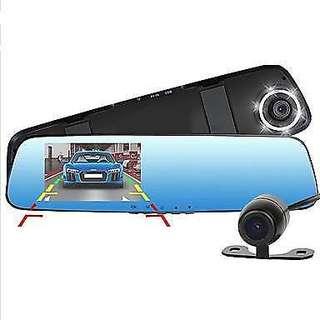 New Full HD 1080P Dash Cam Car Dvr Camera Mirror With Dual Lens