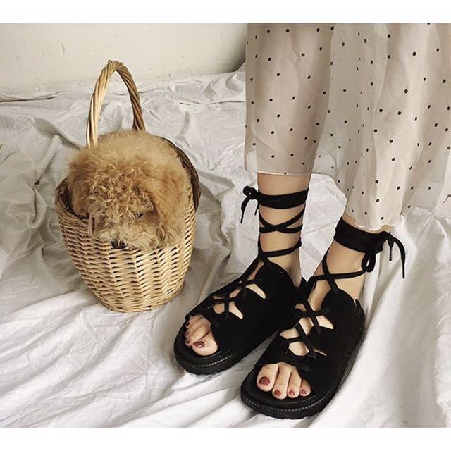 韓版綁帶涼鞋