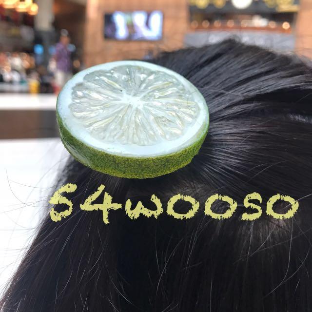 🔹仿真童趣檸檬髮圈髮夾
