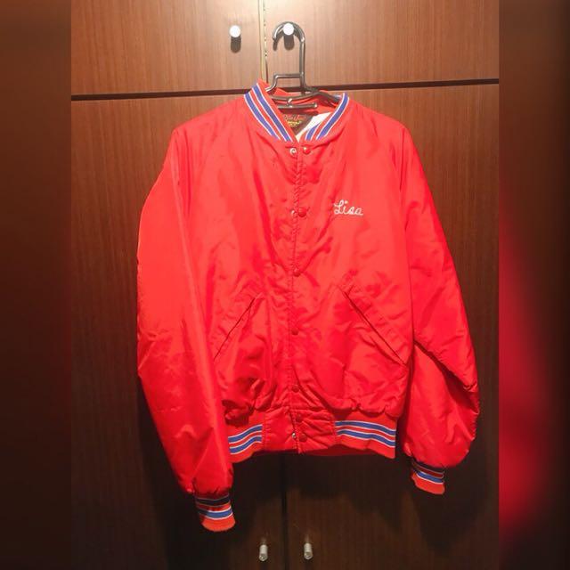 古著防風棒球外套