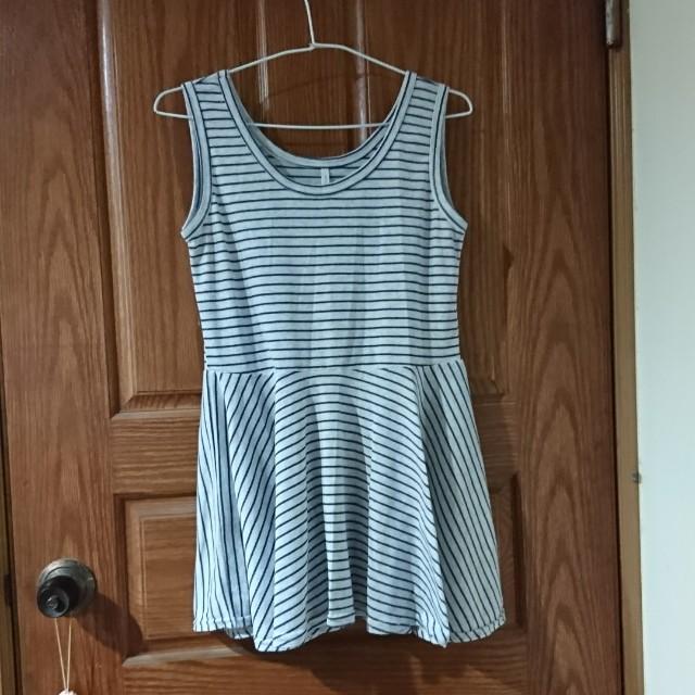 藍白條紋背心裙