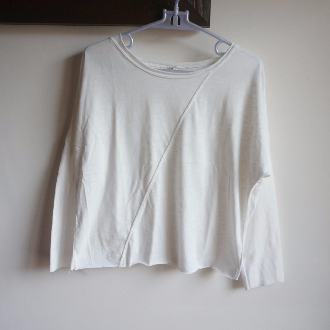 極新 竹節棉寬鬆不修邊上衣