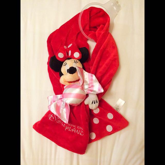 迪士尼 米妮 立體糖果造型圍巾