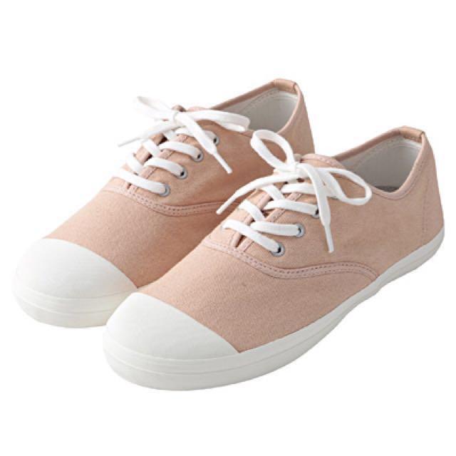 無印良品 純棉布鞋 淺灰色 23.5cm #手滑買太多
