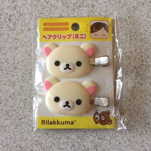 日本 拉拉熊 懶妹 白熊 髮夾
