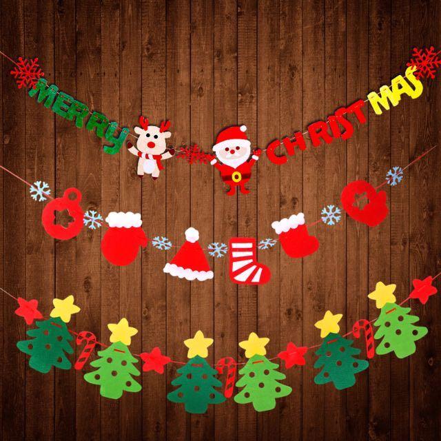聖誕節 裝飾 拉旗 聖誕樹 掛旗 吊旗 波浪旗 三角旗 字母旗 聖誕旗 聖誕佈置 佈置