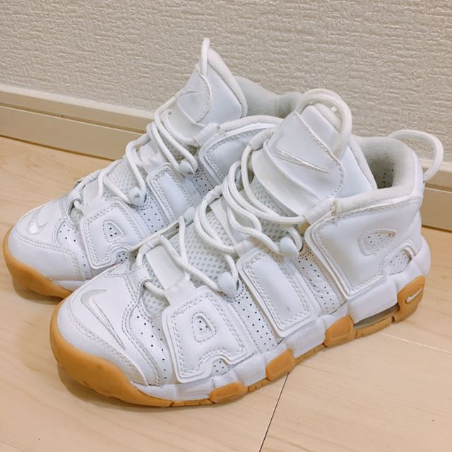 白色 Nike AIR MORE UPTEMPO white GUM 女球鞋