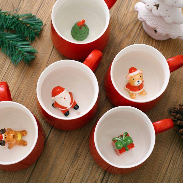 [預購優惠] zakka 聖誕節 立體3D咖啡杯 馬克杯情侶杯 牛奶杯 交換禮物 禮物 生日 聖誕禮物  聖誕老人