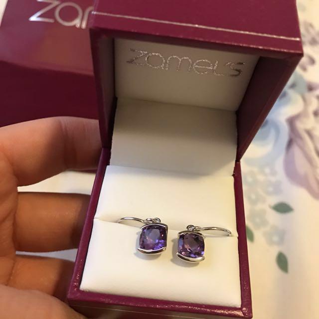 💯 Zamel's Amethyst earrings set