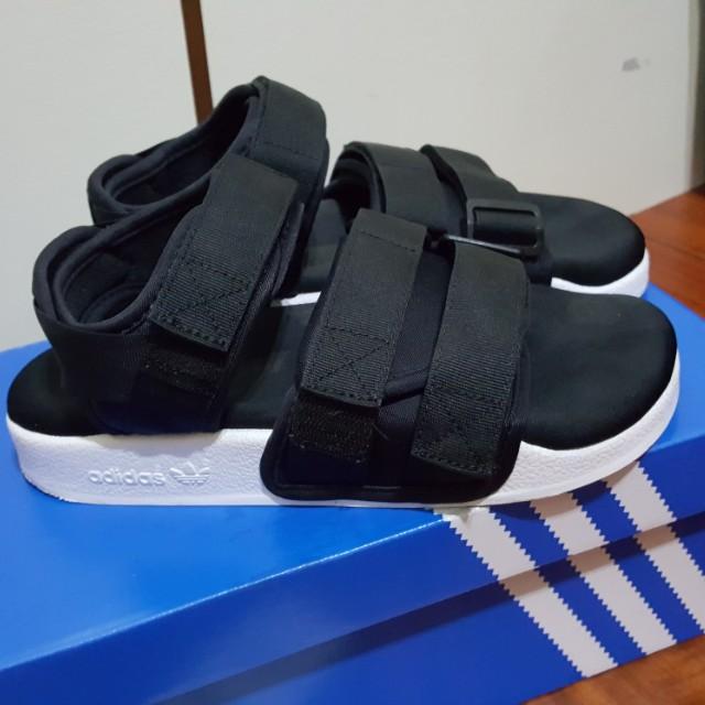 addidas愛迪達涼鞋 -黑