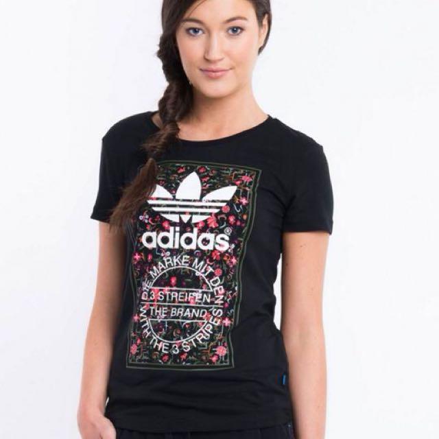 34b7e2c5 Adidas Original T-shirt (Black), Women's Fashion, Clothes, Tops on ...