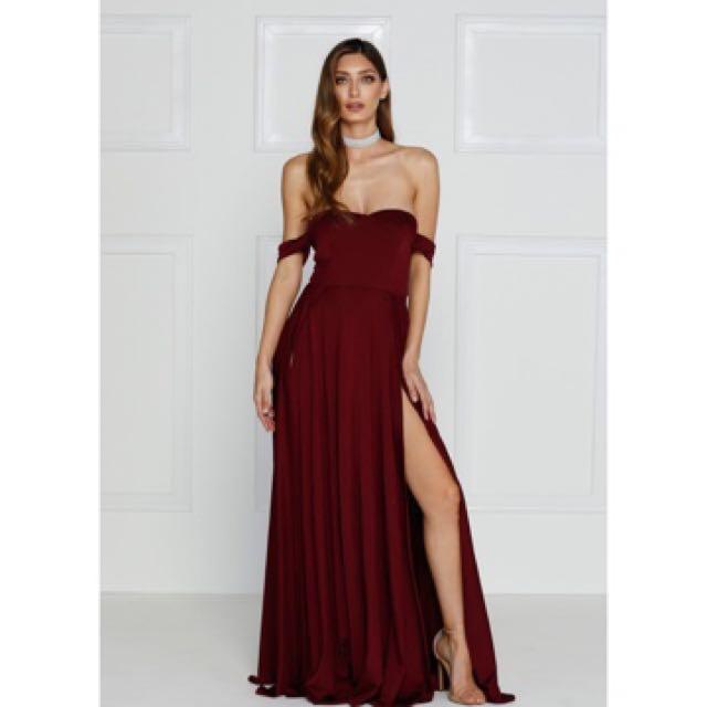 Alamour the Label Aravinda Formal Dress Burgundy