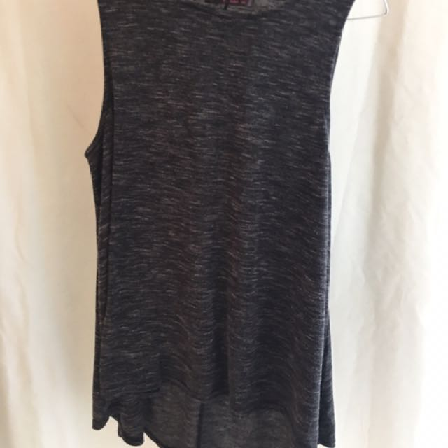 Ally dark grey sleeveless top