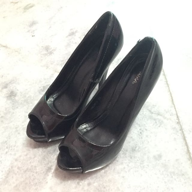 Amante Black Platform Shoes