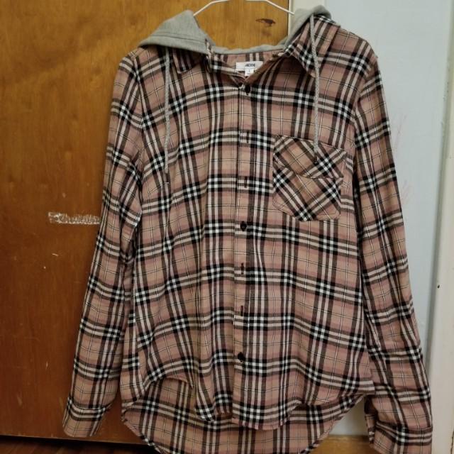 Ardene Plaid Button-up Shirt
