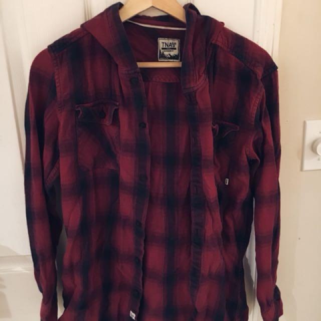 Aritzia plaid shirt