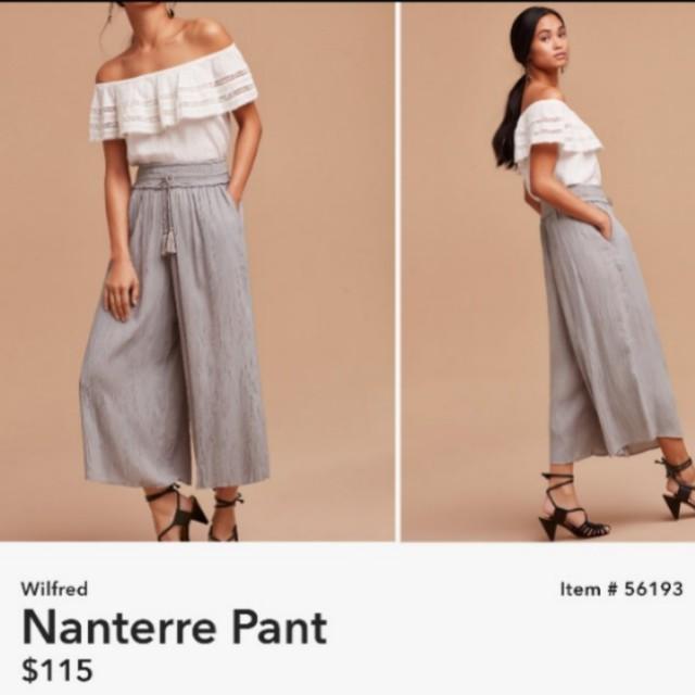 Aritzia Wilfred Nanterre Pants Size M.