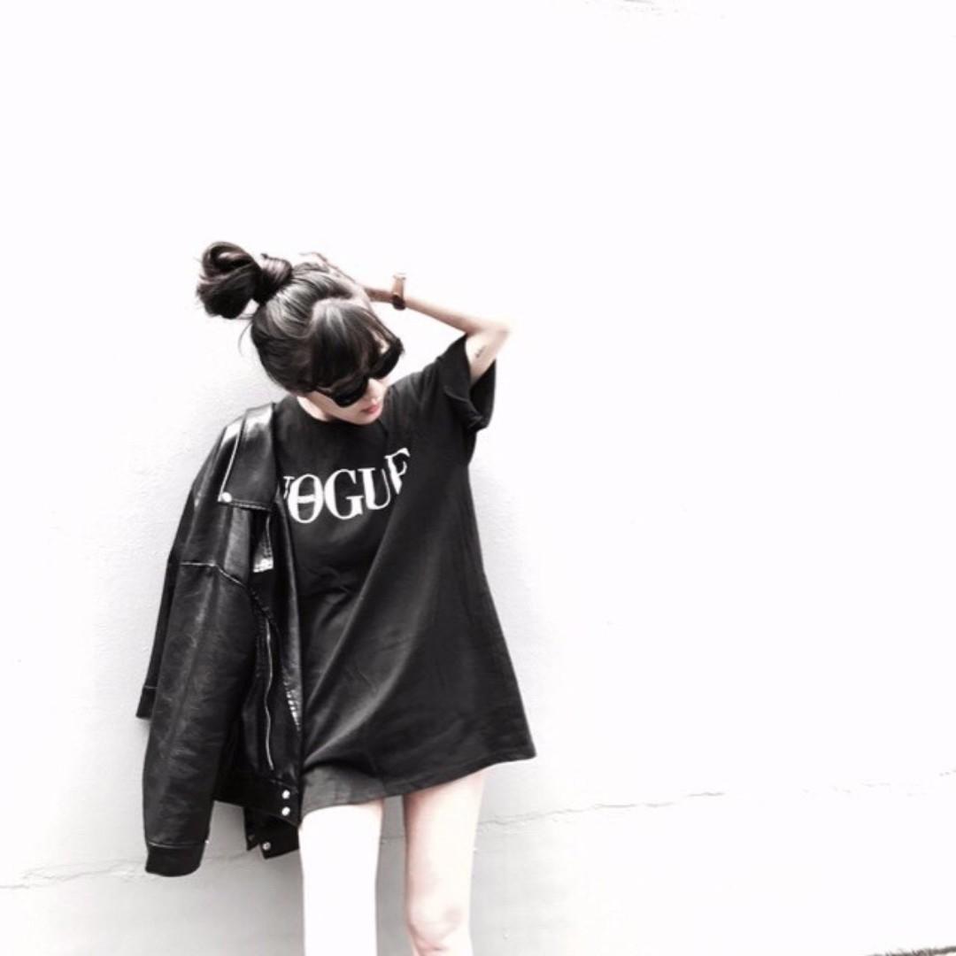 A.room 韓國VOGUE短袖長板T恤