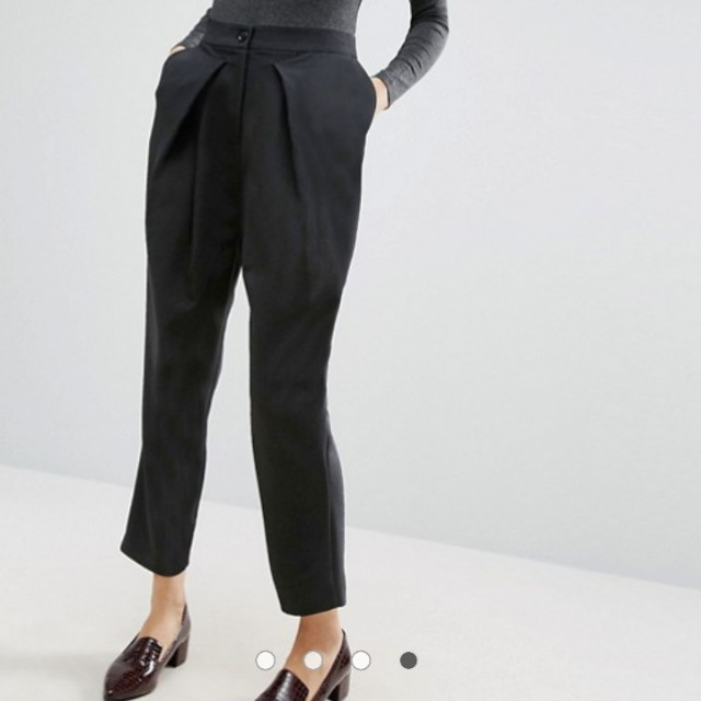Asos tapered black pants