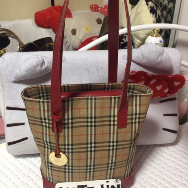 Authentic Burberry Drum Style Shoulder Bag