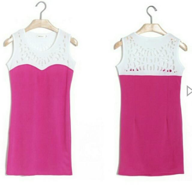 Basic Hollow Cut Out Dress