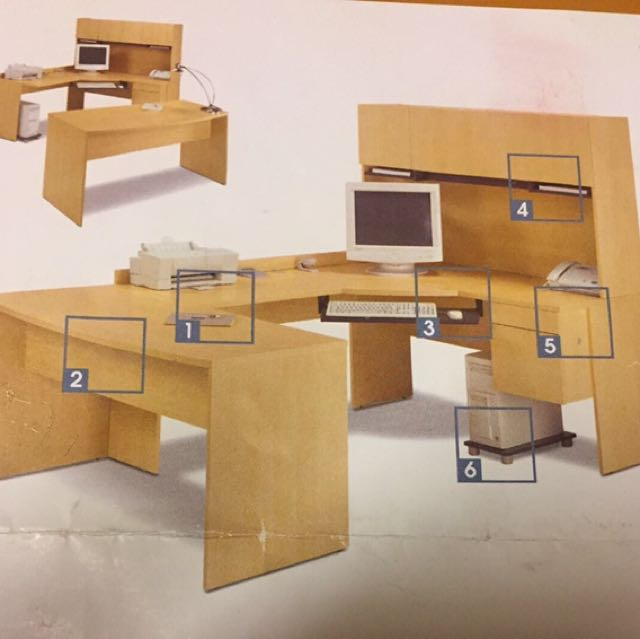 Bestar Legacy L-Shaped Desk